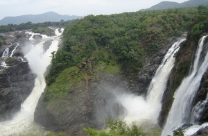 The Gaganachukki waterfall
