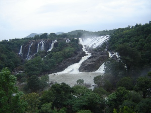 The Bharachukki waterfall